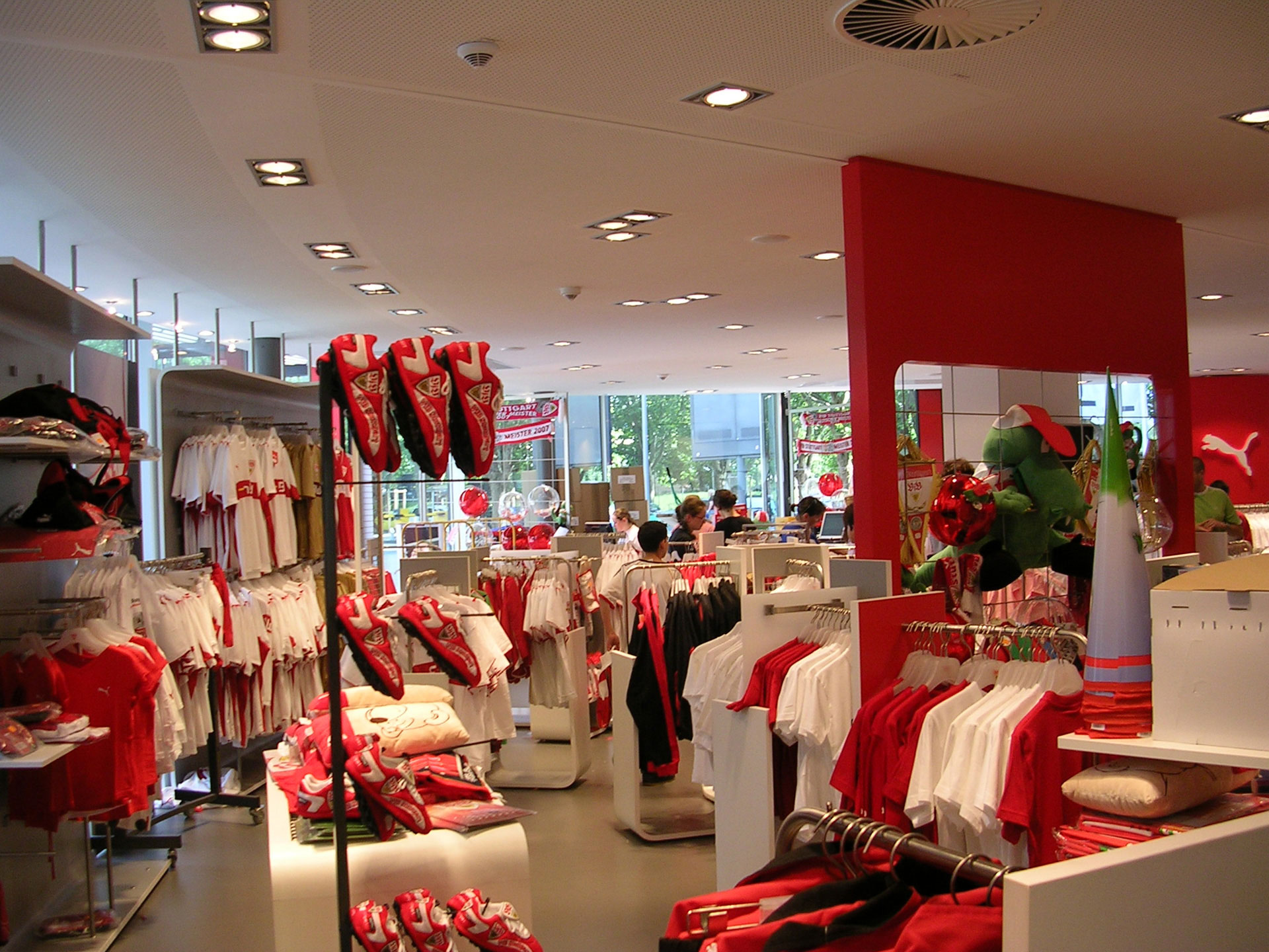 carl benz center vfb fanshop stuttgart schako pure competence in air. Black Bedroom Furniture Sets. Home Design Ideas