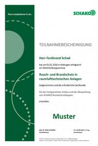 Teilnahmebescheinigung_Muster Ferdinand Schad