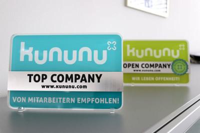 Kununu Top Company und Open Company Siegel für SCHAKO